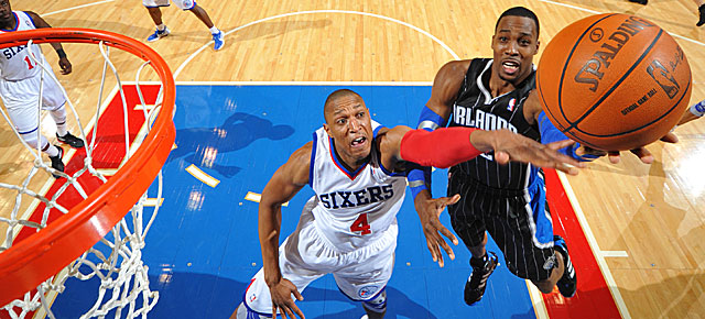 Dwight Howard and the Magic failed to break 70 points in this Jan. 30 game at Philly. (Getty Images)