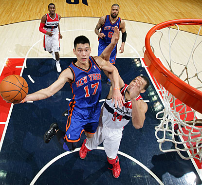 Jeremy Lin follows his 25- and 28-point games with 23 against Washington.  (Getty Images)