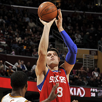 Nikola Vucevic (10 points) is one of six 76ers to score in double figures in their victory.  (Getty Images)