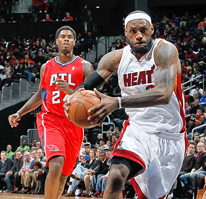 LeBron James and the Heat run through the Hawks with ease for their 10th win in their past 12 games. (Getty Images)