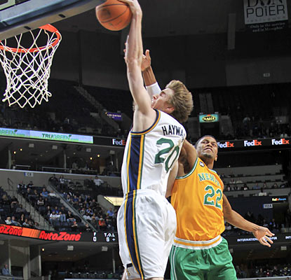 Gordon Hayward provides a game-high 23 points and also contributes five assists in the win over Memphis. (AP)