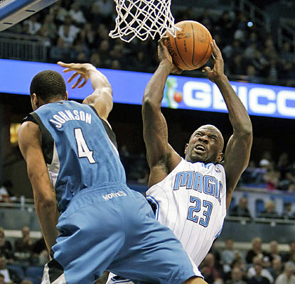 Jason Richardson, one of six Magic players to reach double figures, scores a team-high 17 points. (AP)