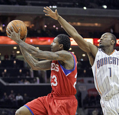 Lou Williams comes off the bench and scores 23 points to finish as the game's highest scorer. (AP)