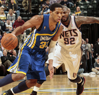 Danny Granger fights through a sprained left ankle to spark the Pacers with a gutsy 32-point effort.  (Getty Images)