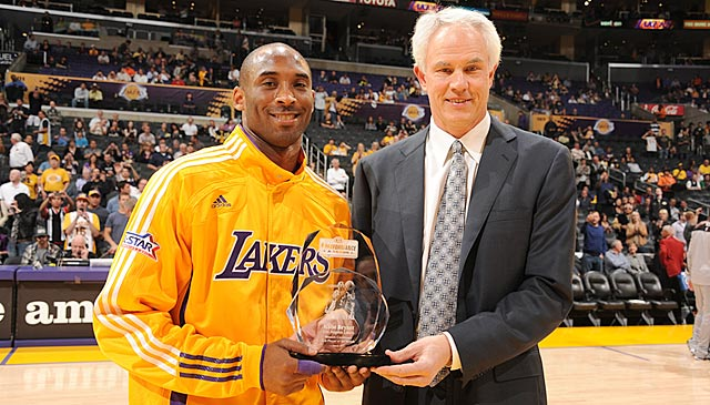 Kobe's issues go higher up the Lakers' hierarchy than GM Mitch Kupchak (right). (Getty Images)