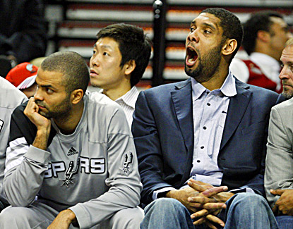 Tony Parker and Tim Duncan sit this one out and the Spurs pay for it with a 137-97 defeat to the Trail Blazers. (AP)
