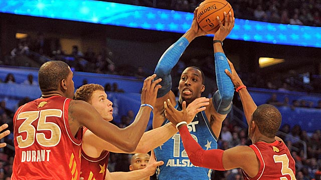 Dwight Howard is hesitant to assert himself, letting the small, faster players dominate the game. (US Presswire)