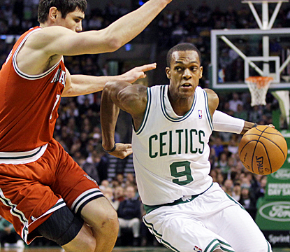 A night after going scoreless, Rajon Rondo scores 15 points en route to a triple-double. (AP)