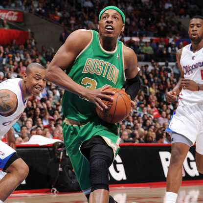 Paul Pierce scores a game-high 25 points, including a three-pointer late in the game to cap the Celtics' pivotal 9-0 run.  (Getty Images)
