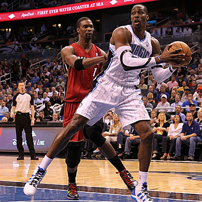 In possibly his final home game with the Magic, Dwight Howard records his eighth 20-20 of the season in their victory. (Getty Images)