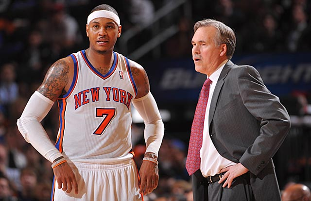 The supposed match made in heaven between Carmelo Anthony and Mike D'Antoni sours within a year. (Getty Images)