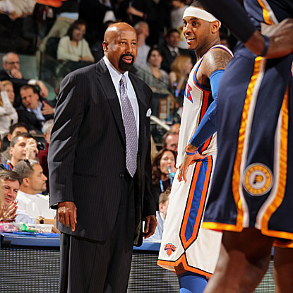 The Knicks win convincingly for the second straight game under interim head coach Mike Woodson.  (Getty Images)