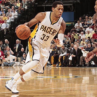 The Pacers' Danny Granger shoots 8 for 8 from the free-throw line and scores a game-high 25 points in their win. (Getty Images)