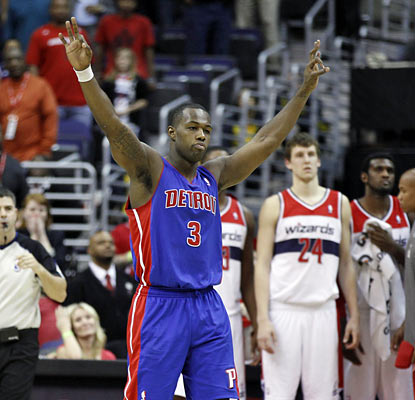 Rodney Stuckey gives Detroit a much-needed victory, and it comes from a game-winning shot with 0.2 seconds left. (AP)