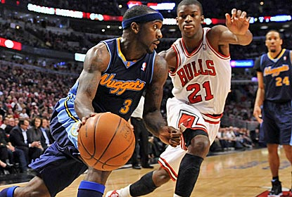 Ty Lawson scores a season-high 27 points as the Nuggets play too fast for the Bulls.  (US Presswire)