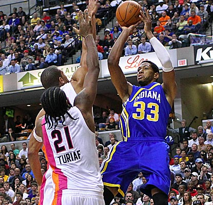 Danny Granger scores a game-high 25 points and the Pacers force Miami into 17 turnovers.  (US Presswire)