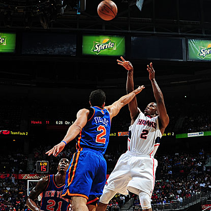 Joe Johnson scores a team-high 28 points to lead the Hawks past the Knicks and his former head coach.  (Getty Images)