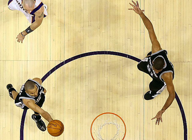 The Spurs' top scorers, Parker, Duncan and Ginobili, are averaging just 28.8 minutes per game. (Getty Images)