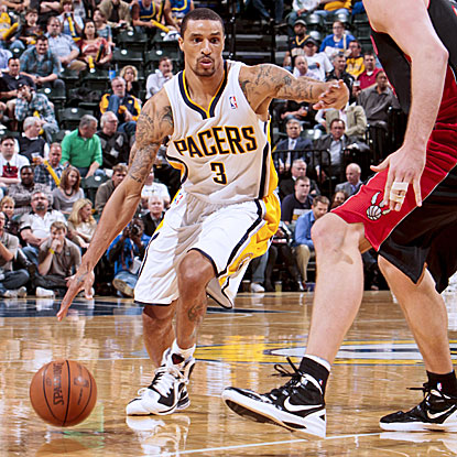 George Hill's 18 points and seven rebounds help the Pacers win for the fourth time in five games.   (Getty Images)