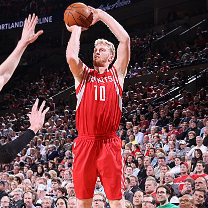 Chase Budinger's 15 points off the bench spark the Rockets in their win, completing a perfect 4-0 road trip.  (Getty Images)