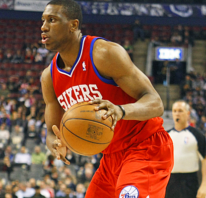 Thaddeus Young helps the Sixers' playoff chances by scoring 17 points against the Raptors. (US Presswire)