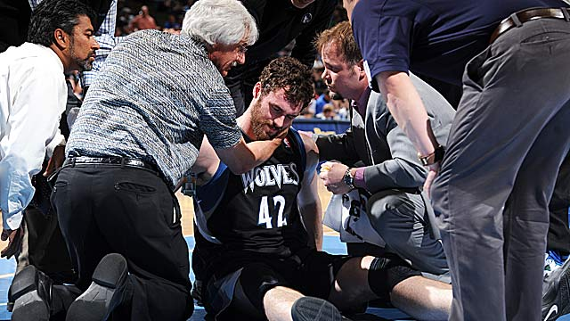 Kevin Love sustained a mild concussion when he took an inadvertent elbow from JaVale McGee. (Getty Images)