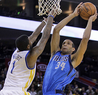 Brandan Wright, who was a former Warriors lottery pick, does damage against his former team with 16 points and nine rebounds. (AP)