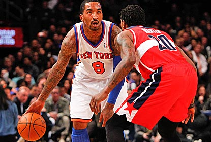 J.R. Smith scores 23 points as the Knicks move into a seventh-place tie with the 76ers.  (US Presswire)