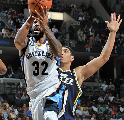 O.J. Mayo (20 points) and the Grizzlies hurt the Jazz's playoff chances with a fourth-quarter rally. (AP)