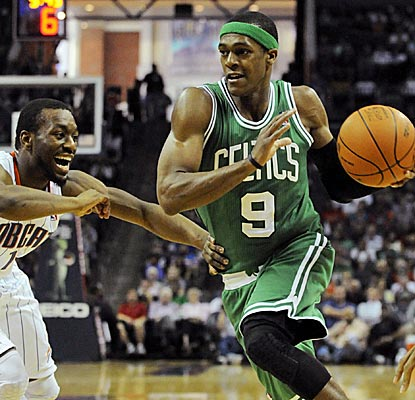 Without the Big Three, Rondo leads the Celtics to victory with 20 points and 16 assists.  (US Presswire)