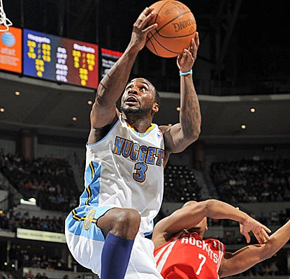 Along with Arron Afflalo, Ty Lawson leads the Nuggets with 20 points as they get a crucial win in their playoff push.  (Getty Images)