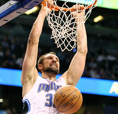 Ryan Anderson helps the Magic with a strong 26-point, 16-rebound performance against the 76ers. (US Presswire)