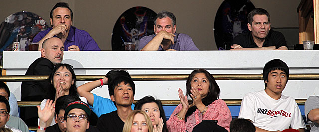 The Maloofs may avoid their courtside seats for the Kings' last five home games. (US Presswire)