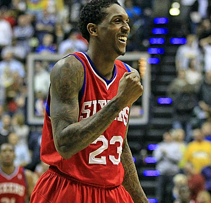 Lou Williams scores 19 to go with Elton Brand's 20 as the Sixers edge the Pacers in overtime.  (AP)