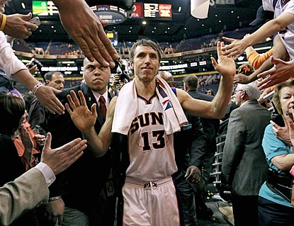Suns fans hope this won't be the last they'll see of Steve Nash, who is scheduled to become a free agent this summer.  (AP)