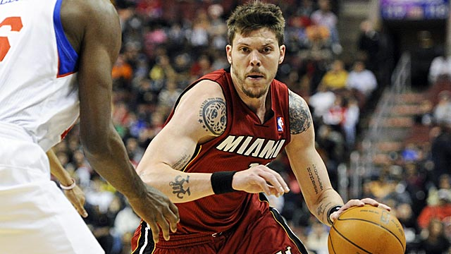 Mike Miller, along with Battier and Anthony, will see most of the playoff bench minutes. (US Presswire)