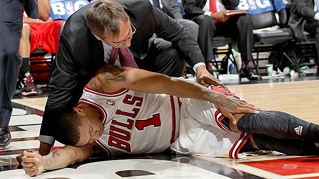 David Stern insists that the condensed NBA season had nothing to do with Rose's ACL tear. (Getty Images)