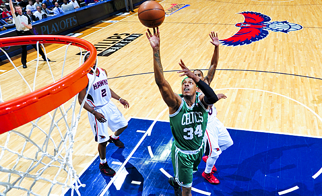 With the Celtics seriously depleted, Pierce delivers one of his finest playoff performances. (Getty Images)