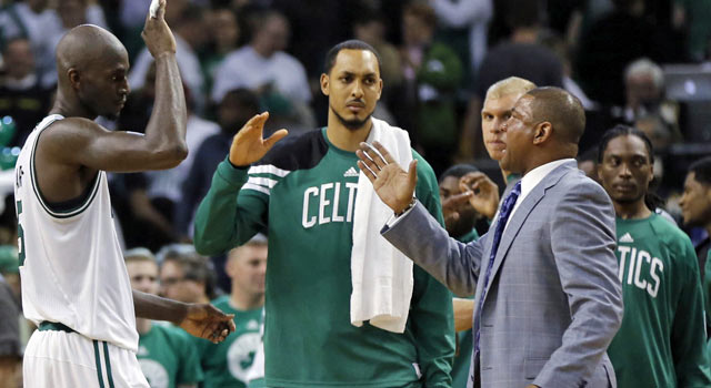 Kevin Garnett and Doc Rivers know the Celtics will need to improve their game. (US Presswire)