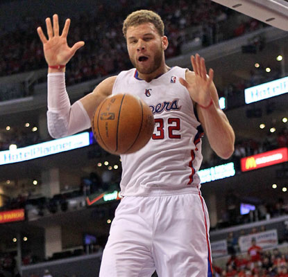 Blake Griffin scores 17 points to help the Clippers notch their first home playoff win since 2006.  (Getty Images)