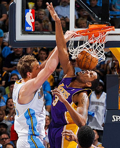 Of Timofey Mozgov's three field goals Thursday, this posterization of Devin Ebanks is probably the most gratifying.  (Getty Images)