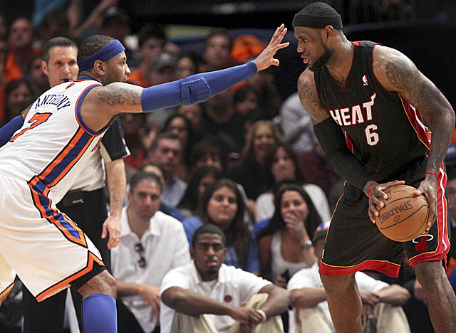 LeBron, whose Heat moved past the Knicks into Round 2, will receive the MVP trophy Sunday. (AP)