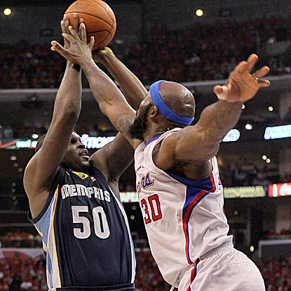 Zach Randolph is big for the Grizzlies, scoring 18 points while grabbing 16 rebounds as Memphis forces a Game 7.  (AP)
