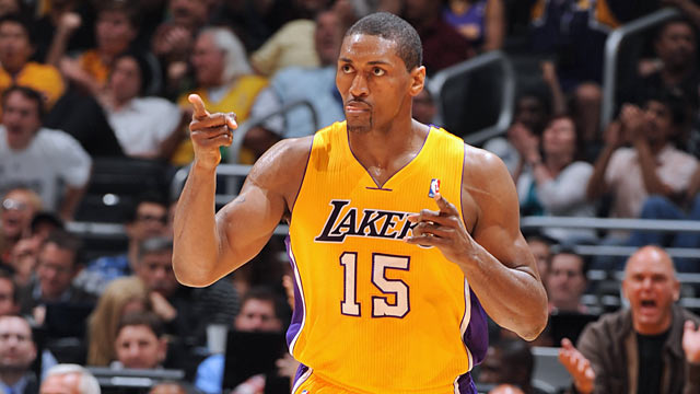 The Lakers get a boost from Metta World Peace, who makes his only series appearance count. (Getty Images)