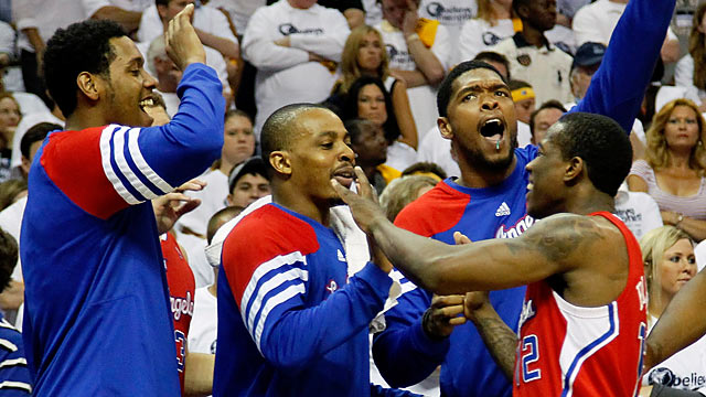 Time to rejoice: The Clippers win a postseason series for the third time in 41 years. (Getty Images)