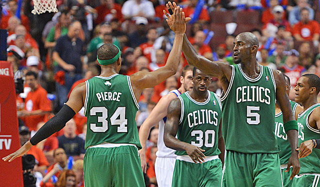 Garnett has lifted his game and the Celtics certainly follow in the Game 3 rout of Philly. (Getty Images)