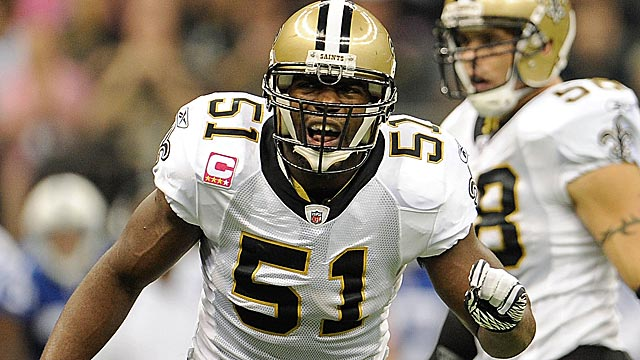 Until his suspension, Jonathan Vilma was by all accounts the Saints' defensive leader. (Getty Images)