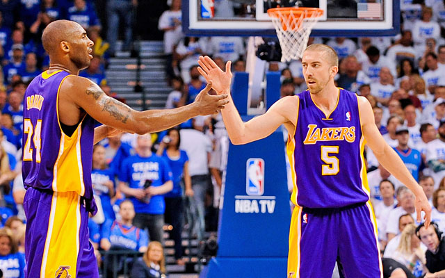 Kobe Bryant takes to Twitter to criticize fans for threatening teammate Steve Blake. (Getty Images)