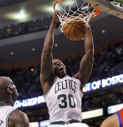 Brandon Bass is huge in Game 5, scoring 27 points in 37 minutes as the Celtics take a 3-2 lead over Philly.  (US Presswire)