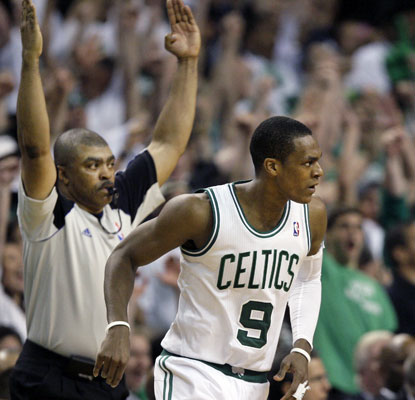 Rajon Rondo scores 18 points, hands out 10 assists and grabs 10 rebounds to pace the Celtics in Game 7.  (AP)